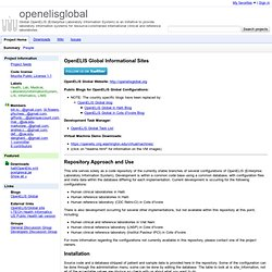 openelisglobal - Global OpenELIS (Enterprise Laboratory Information System) is an initiative to provide laboratory information systems for resource-constrained international clinical and reference laboratories.