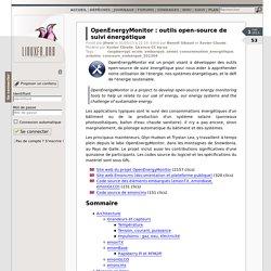 OpenEnergyMonitor: outils open-source de suivi énergétique