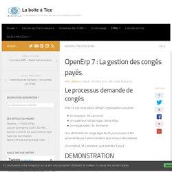 OpenErp 7 : La gestion des congés payés.