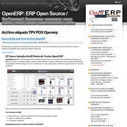 OpenERP: El ERP de software libre