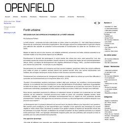 Openfield – revue ouverte sur le paysage » Forêt urbaine