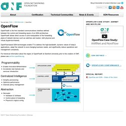 OpenFlow - Open Networking Foundation
