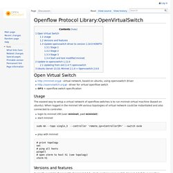 Openflow Protocol Library:OpenVirtualSwitch - Daylight Project