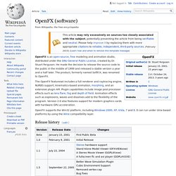 OpenFX (software) - Wikipedia