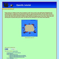 OpenGL Video Tutorial - Home