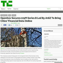 OpenGov Secures $15M Series B Led By A16Z To Bring Cities' Financial Data Online