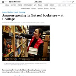 Amazon opens its first real bookstore — at U-Village