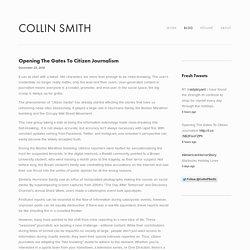 Opening The Gates To Citizen Journalism — Citizen Journalism