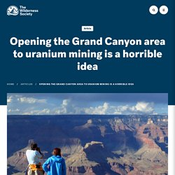 Opening the Grand Canyon area to uranium mining is a horrible idea