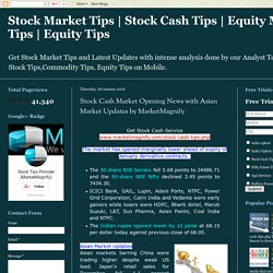 Stock Cash Market Opening News with Asian Market Updates by MarketMagnify