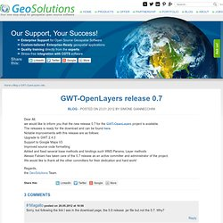GWT-OpenLayers release 0.7