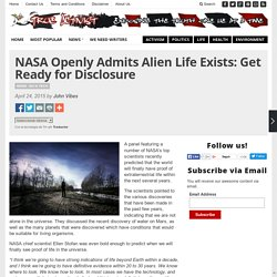 NASA Openly Admits Alien Life Exists: Get Ready for Disclosure
