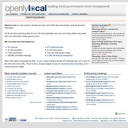 Openly Local | Recensement des communes britanniques Open data