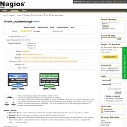 check_openmanage - Nagios Exchange