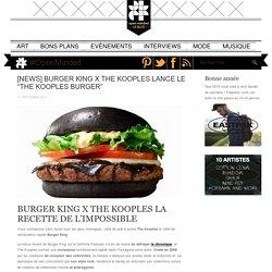"[NEWS] BURGER KING X THE KOOPLES LANCE LE ""THE KOOPLES BURGER"""