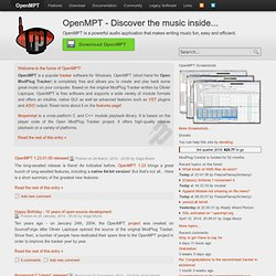 OpenMPT.org - Home of Open ModPlug Tracker | Discover the music inside...