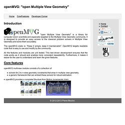 "openMVG: ""open Multiple View Geometry"""