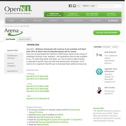 OpenNI Arena - Applications