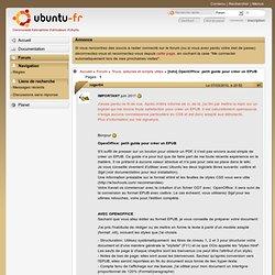 [tuto] OpenOffice: petit guide pour créer un EPUB (Page 1) / Trucs, astuces et scripts utiles
