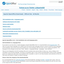 download: OpenOffice.org Download
