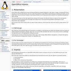 OpenOffice-Impress – Debacher-Wiki