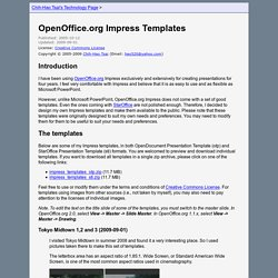 OpenOffice.org Impress Templates
