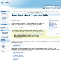 BASIC Programming Guide