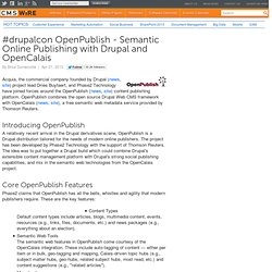 #drupalcon OpenPublish - Semantic Online Publishing with Drupal