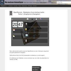 OpenRemote - Réalisation d'une interface tactile : Partie 1 (Graphisme et Navigation)