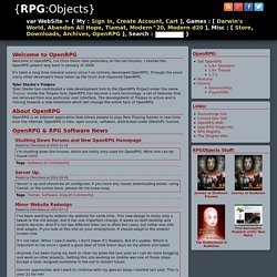 OpenRPG: Online Virtual Tabletop