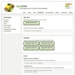 OpenSCAD - Downloads