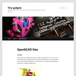OpenSCAD files