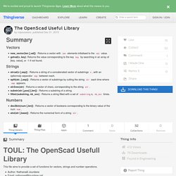 The OpenScad Useful Library by roipoussiere