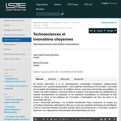 OpenScience - Technosciences et innovations citoyennes