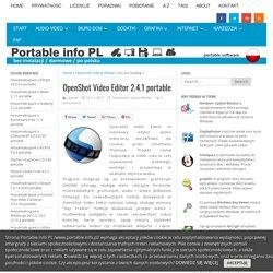 OpenShot Video Editor 2.4.1 portable – Programy portable