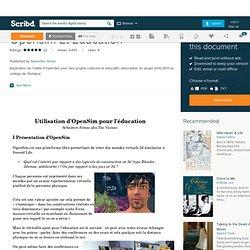 Opensim Et Education
