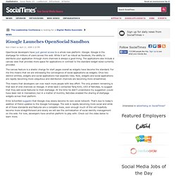 iGoogle Launches OpenSocial Sandbox - Covering All That's Social On the Web