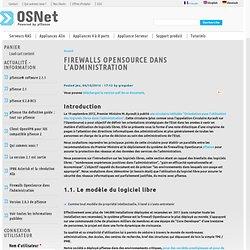 Firewalls OpenSource dans l'Administration