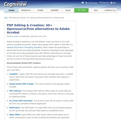 PDF Editing & Creation: 50+ open source/free alternatives to Adobe Acrobat