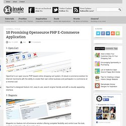 10 Promising Opensource PHP E-Commerce Application