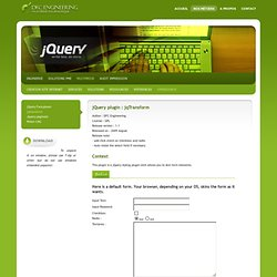 Opensource - AJAX - Jqtransform - jQuery form plugin