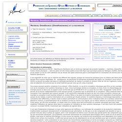 Matériel OpenSource (OpenHardware) et la recherche