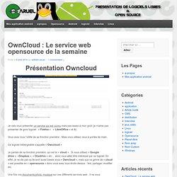 OwnCloud : Le service web opensource de la semaine