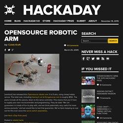 Opensource robotic arm