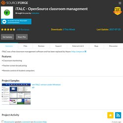 iTALC - OpenSource classroom management | Download iTALC - OpenSource classroom management software for free at SourceForge