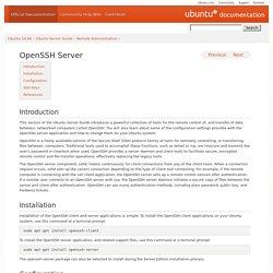 OpenSSH Server