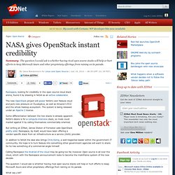 NASA gives OpenStack instant credibility