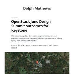OpenStack Juno Design Summit outcomes for Keystone