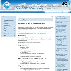 OpenSTM32 Community Site