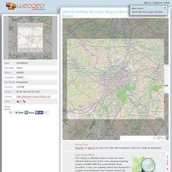 OpenStreetMap: Brussels, Belgium Metro Region - WeoGeo Market